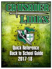 Crusader Links 2017-18 Back to School Quick Reference