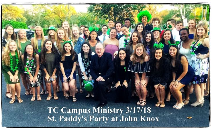 Campus Ministry Crusaders Share Their Green with Senior Citizens