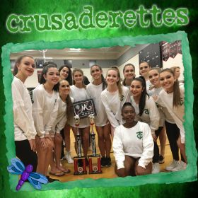 Crusaderettes Return from MA Dance Regionals with Super Sweepstakes Trophies
