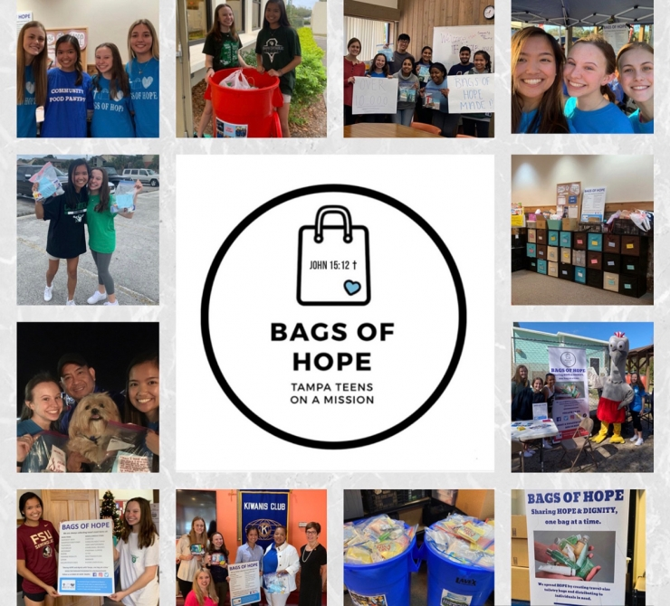"TC Girls Serve Tampa's Homeless Through ""Bags of Hope"""