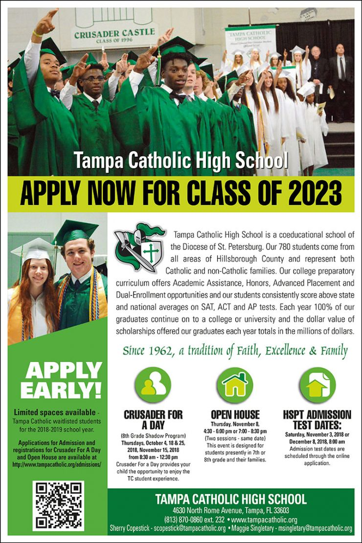 Apply Now – Tampa Catholic Class of 2023